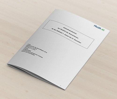 Teaserbild : Finanzbericht FRoSTA AG