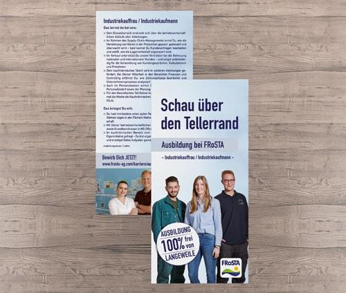 Flyer FRoSTA Industriekauffrau-Mann Teaserbild