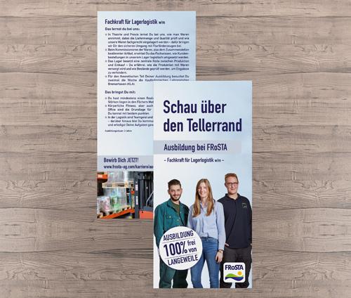 Flyer FRoSTA Lagerlogistik Teaserbild