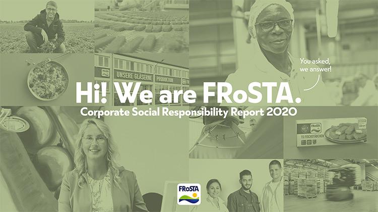FRoSTA CSR Report 2020 - Teaserimage