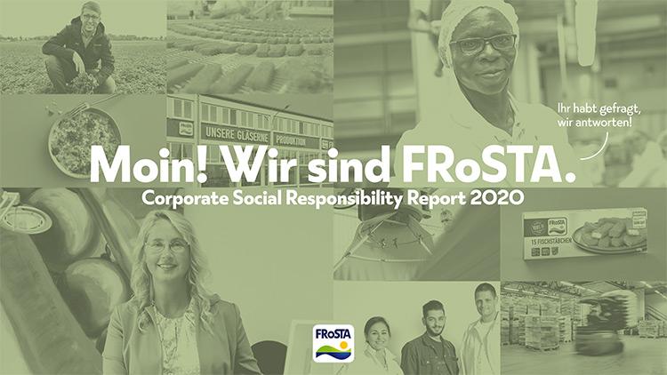 FRoSTA Nachhaltigkeitsbericht / CSR Report 2020 - Teaserbild
